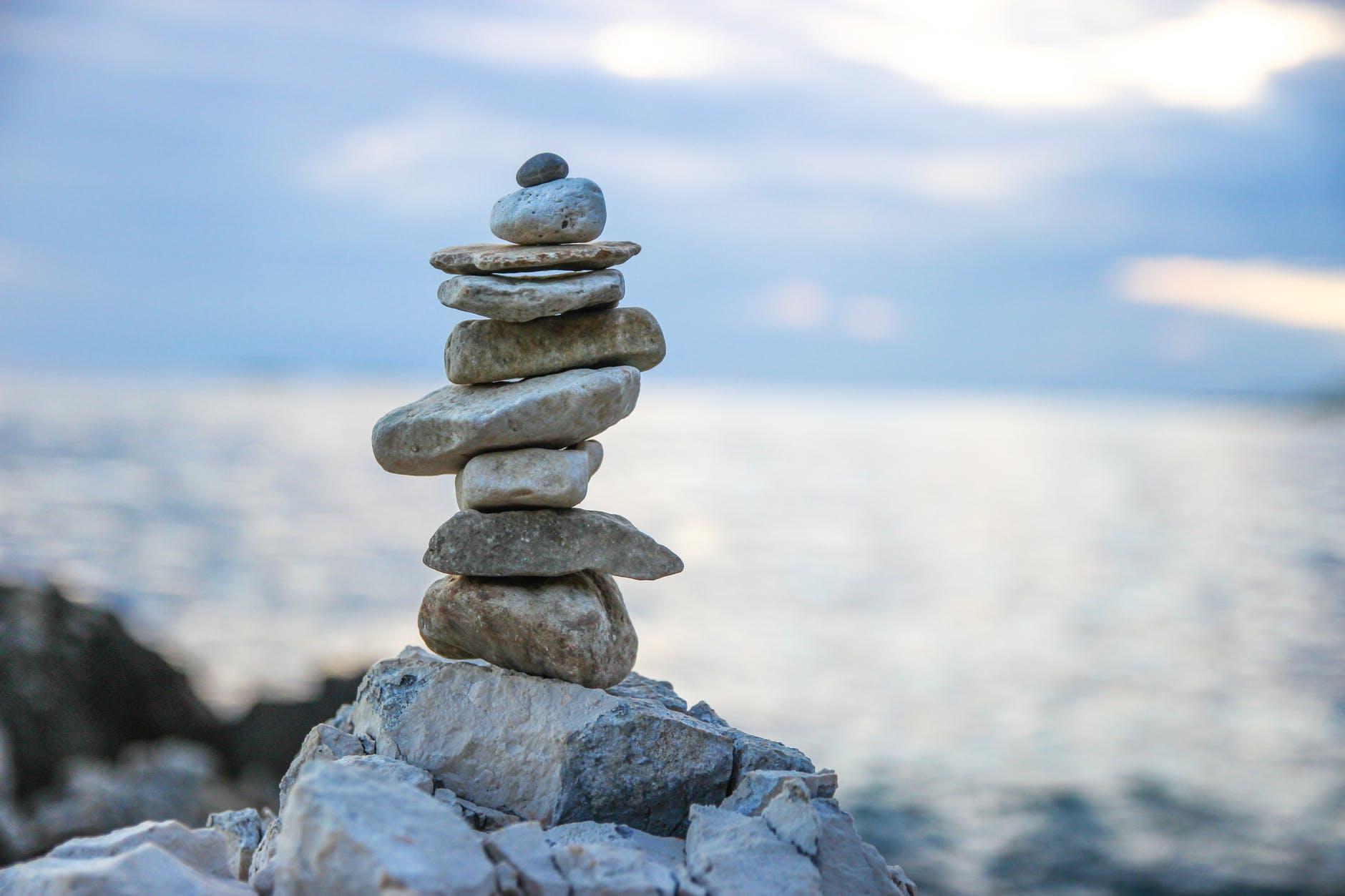 stack of gray stones